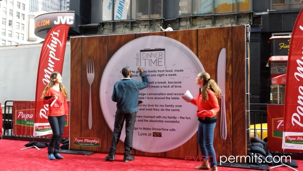times square events that need permits